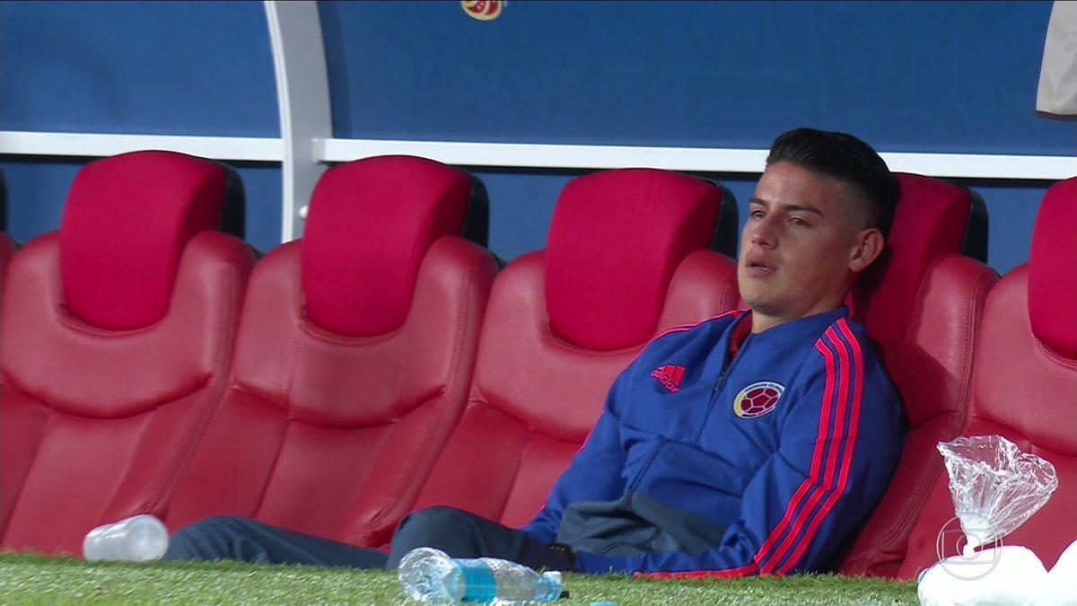 James Rodriguez en larmes après l'élimination de la #COL 😢