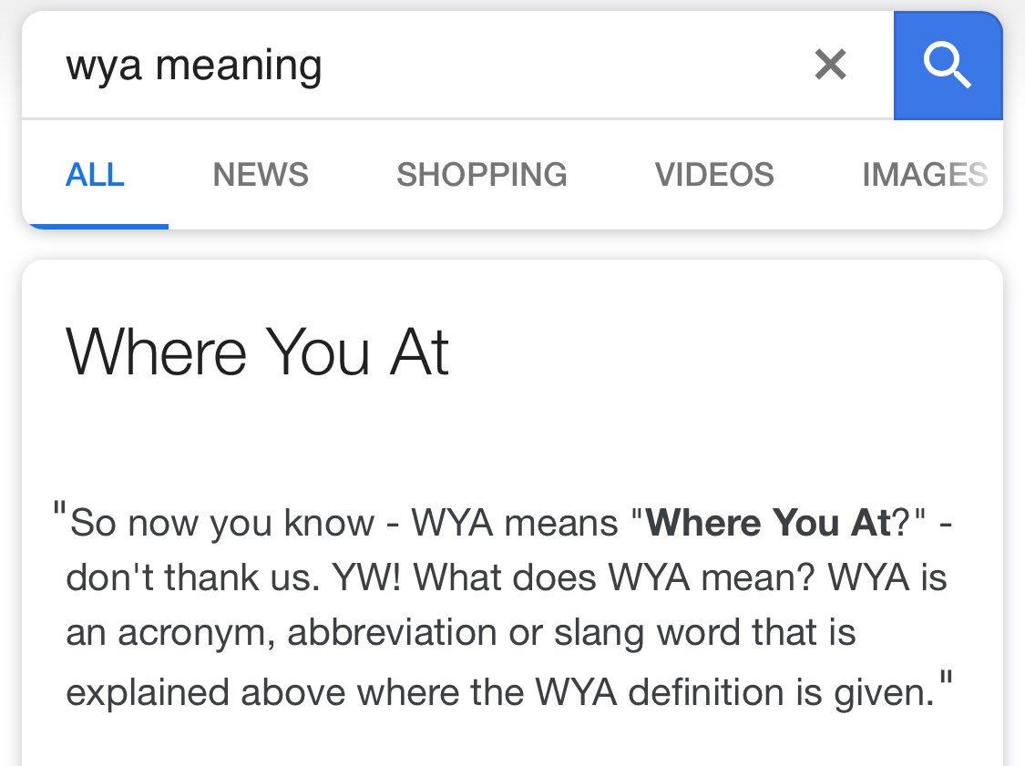 wya meaning
