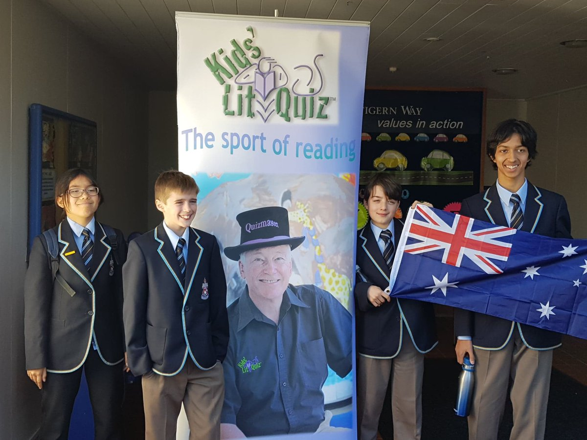 The CGS team is currently in Auckland competing at the world final of the Kids' Lit Quiz - you can join in and view the live stream at 12:30pm today at https://t.co/mPZPIK4drI - good luck team!
