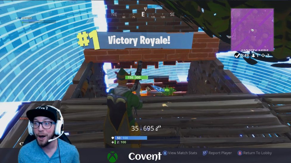 This was the most intense #Xbox #MixerSolos @FortniteGame #VictoryRoyale that I've ever witnessed from @ChrisCovent!  He had only 2HP left during the last 1v1! #NoWay  Even he was in disbelief: https://mixer.com/Covent?clip=VWsqo67U0kmqDaebVVXonw …