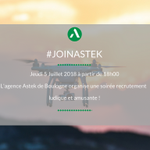 Image for the Tweet beginning: #joinastek // Vous aimez les
