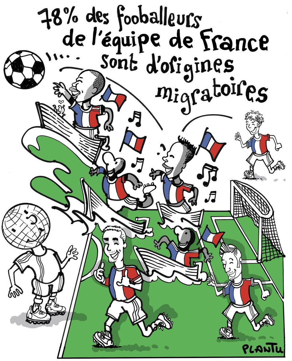 Plantu On Twitter L Equipe De France De Football Le Dessin De L