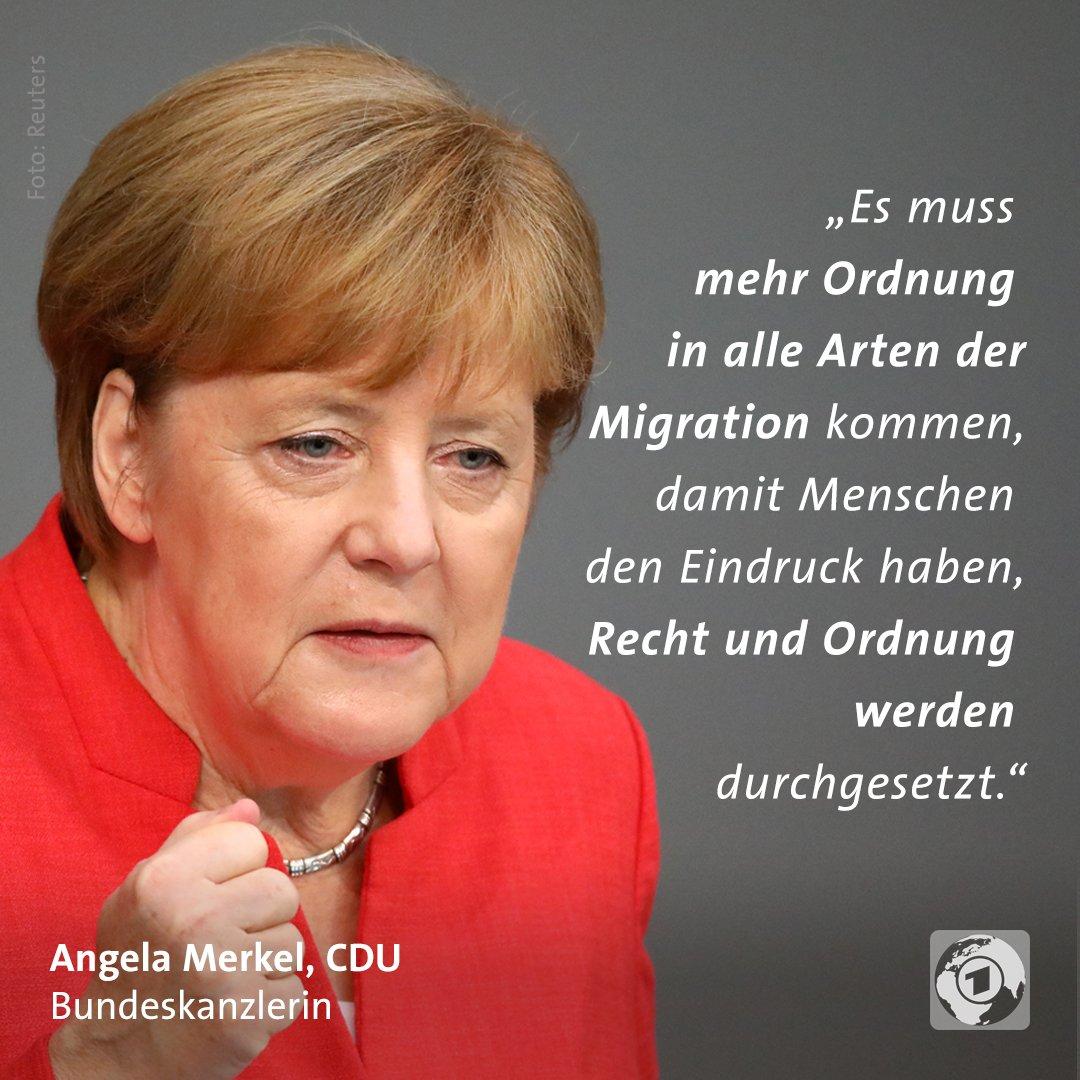 Tagesschau On Twitter Kanzlerin Merkel Hat Im Bundestag