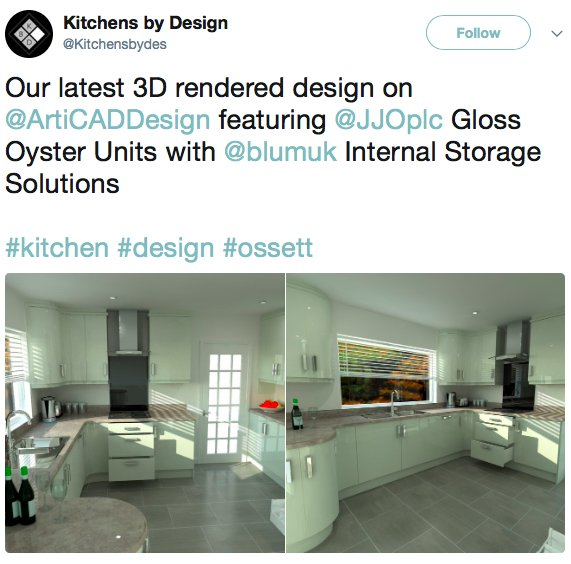 Thanks to our friends at @Kitchensbydes for sharing its new @ArtiCADDesign #3D render of the @JJOplc Gloss Oyster Units... With tech like this the world is ...  sc 1 st  Twitter & Kitchens by Design (@Kitchensbydes) | ?????