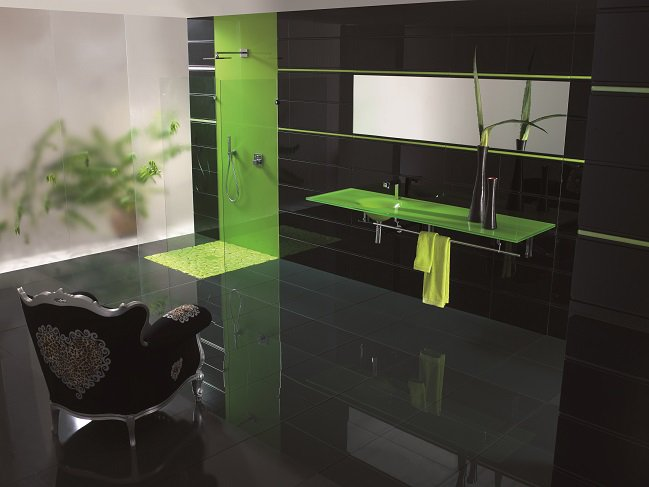 Showerarea Hashtag On Twitter - Colored-and-clear-glass-tiles-by-vetrocolor
