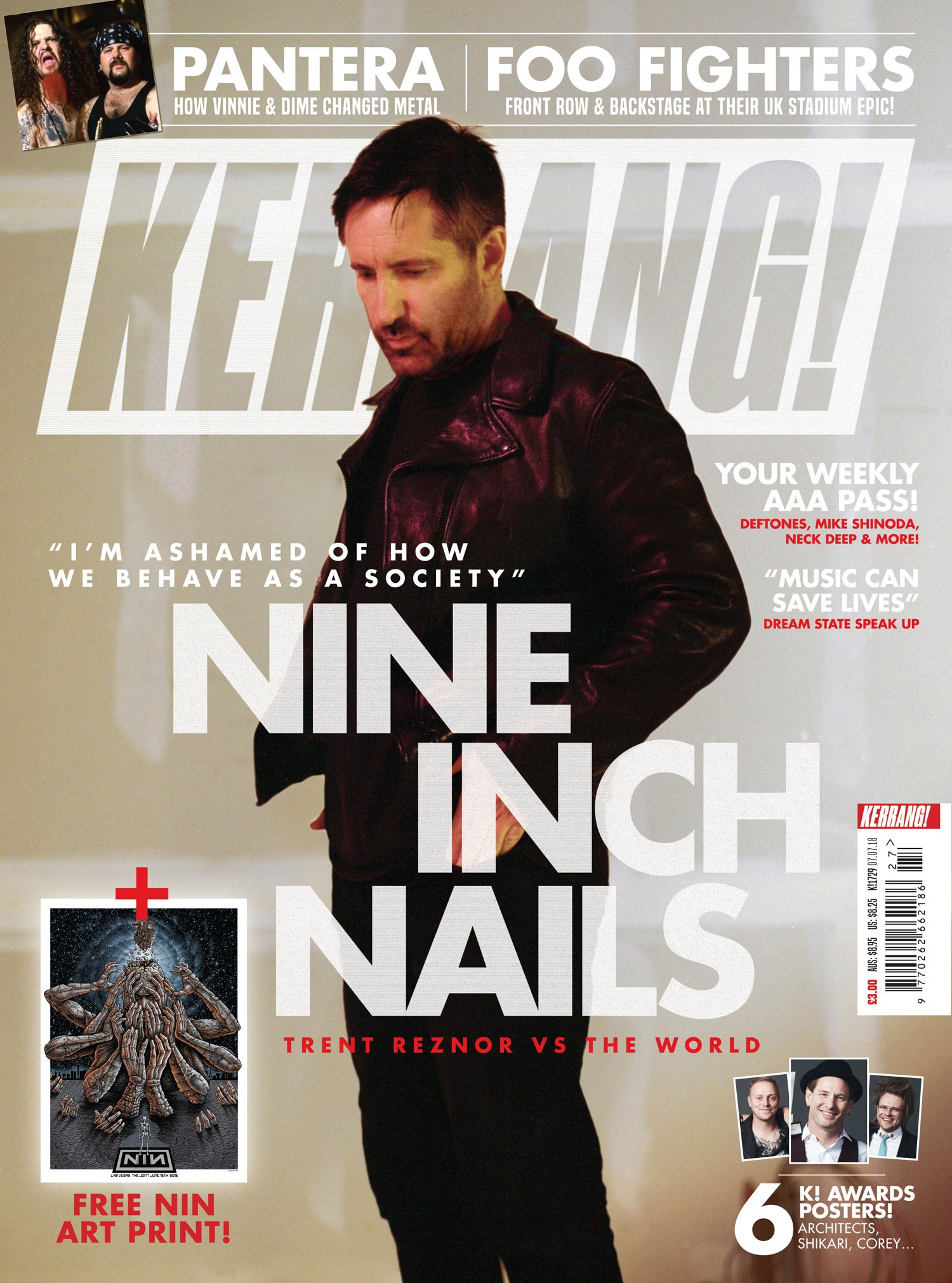 Nine Inch Nails On The Cover Of Kerrang Sound In Signals Sweater Nin