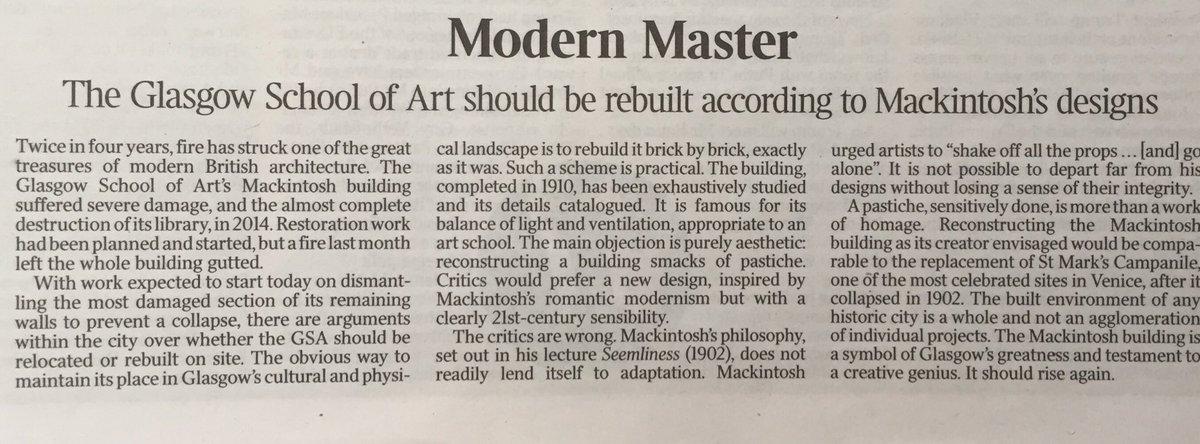 Alison Watt On Twitter The Mackintosh Building Is A Symbol Of