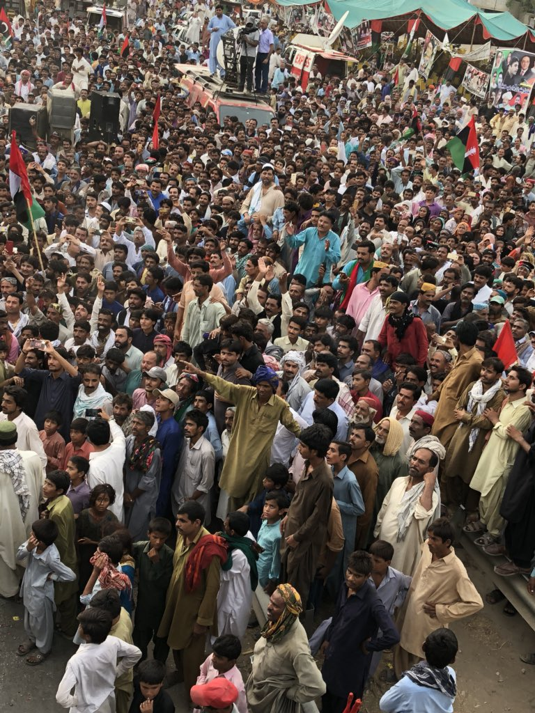 masroor rajper s tweet croud of qazi ahmed warm welcome to our