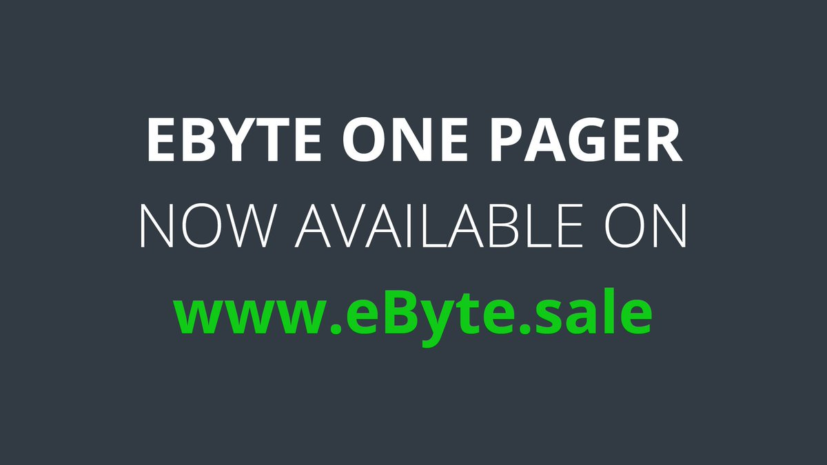 Announcing the official 🎉eByte OnePager 🎉 Download it on ebyte.sale/en/ ➡️ Also dont miss out on the 29% bonus on the #tokensale 🚀 ➡️ ebyte.sale/en/ #preico #presale #ico #crowdsale #bitcoin #blockchain #eByte #cryptocurrency #cryptoinvestment #eth