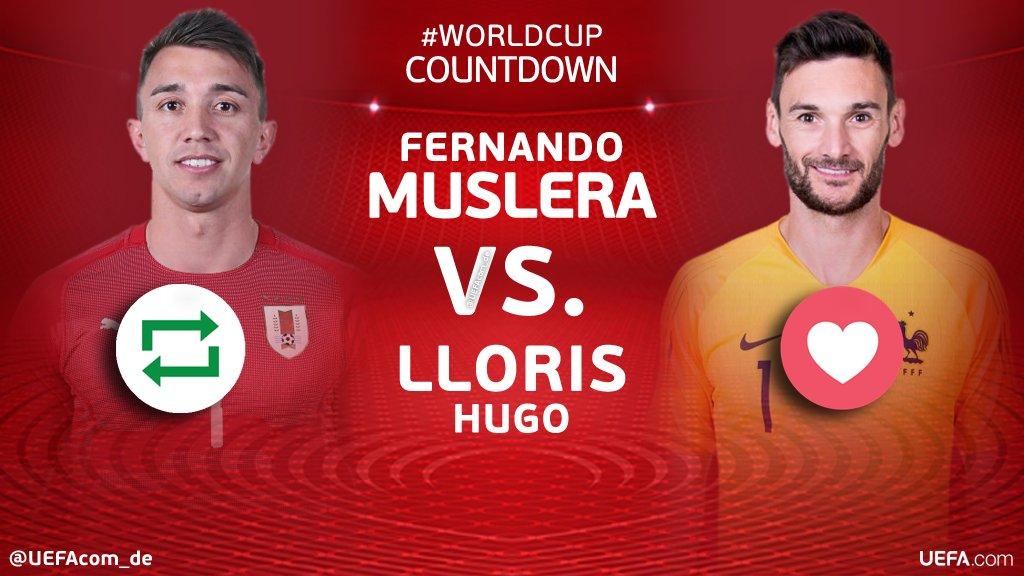 #WorldCup Countdown 🙌🎉⚽️   🔁 =  🇺🇾 ❤ = Hugo  🇫🇷       #Lloris#WM2018#URUFRA#Galatasaray