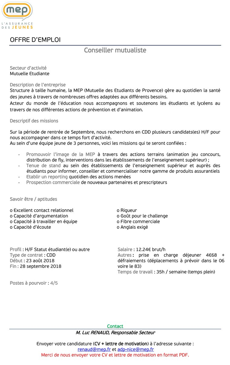 Cap Jeunesse Côte D Azur Bij De Nice On Twitter Job D
