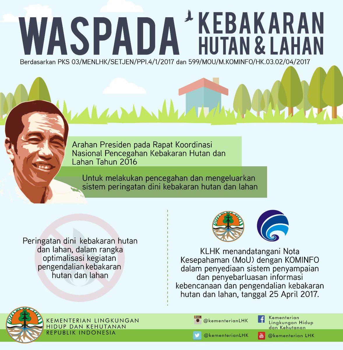 1. Upaya untuk #CegahKebakaranHutan & #CegahKebakaranLahan terus dilakukan oleh pemerintah. Salah satunya melalui SMS blast yang dikirimkan oleh penyedia layanan komunikasi keseluruh Indonesia.pic.twitter.com/62yxDRnVRN