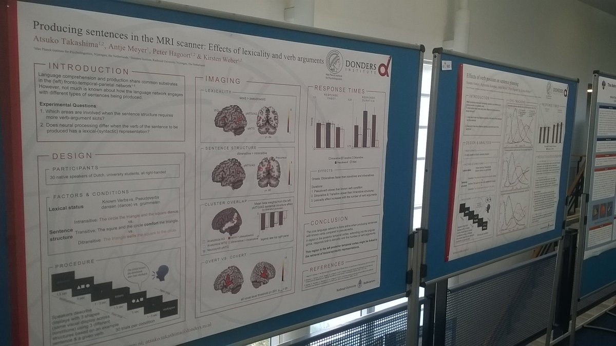 Time to take down our posters on 2 studies exploring new ways to investigate sentence-level language production with fMRI and eye-tracking #iwlp2018. Great conference, lots of new insights and such a friendly atmosphere. https://t.co/MfAGJPm3rC