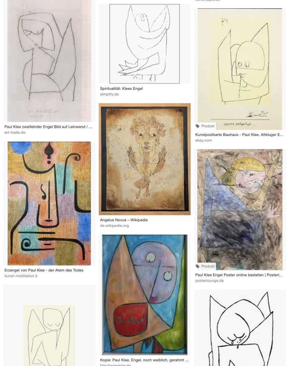 Paul Klee Altkluger Engel Kunstpostkarte  Bauhaus