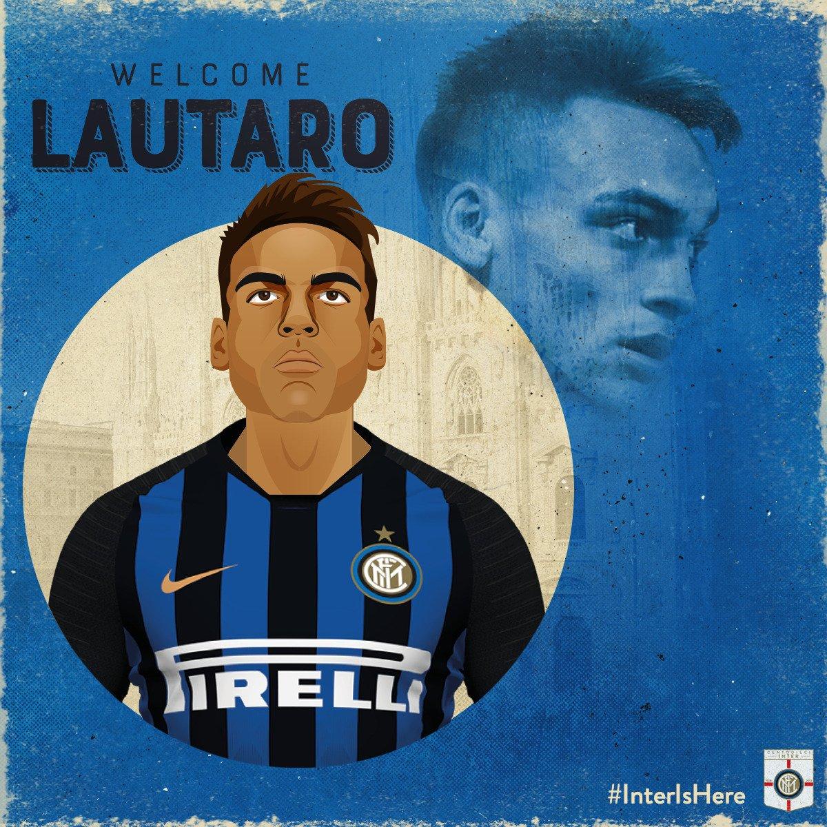 OFICIAL: ¡#BienvenidoLautaro! 🇦🇷⚫️🔵 El ex delantero de @RacingClub firmó contrato por 5 años. ✍️ 👉 bit.ly/LautaroInter