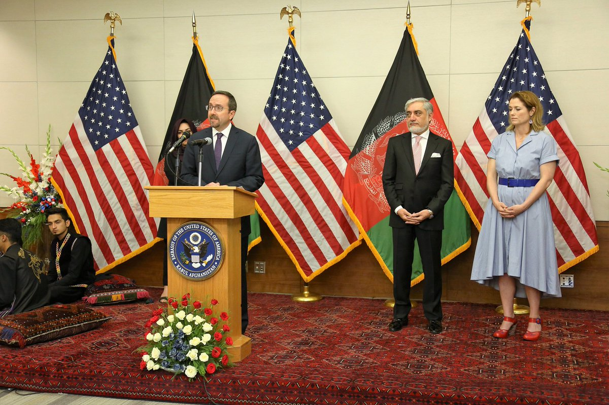 It was great to celebrate America's #IndependenceDay last night with so many Afghan friends and colleagues!