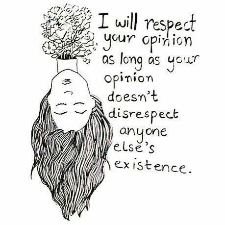 """.:.Bom Dia com Girl Power.:. """"Eu vou respeitar a sua opinião, enquanto a sua opinião não desrespeitar a existência de alguém"""". Paz, amor e empatia 🌈 https://t.co/AzhMyO4ubh"""