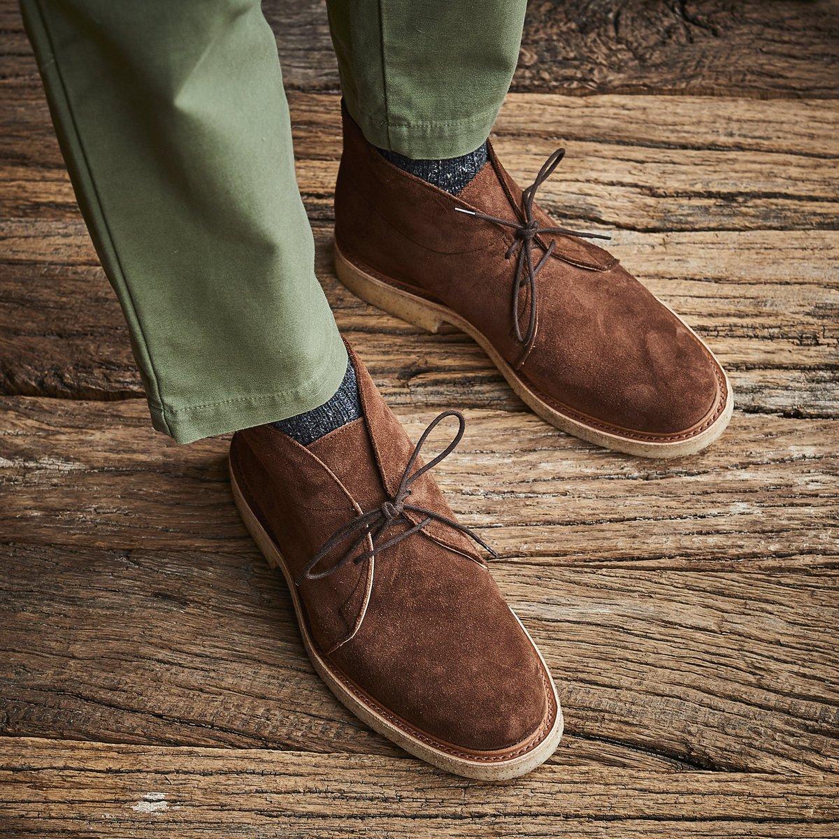 Leo boots in Reverse Kudu suede
