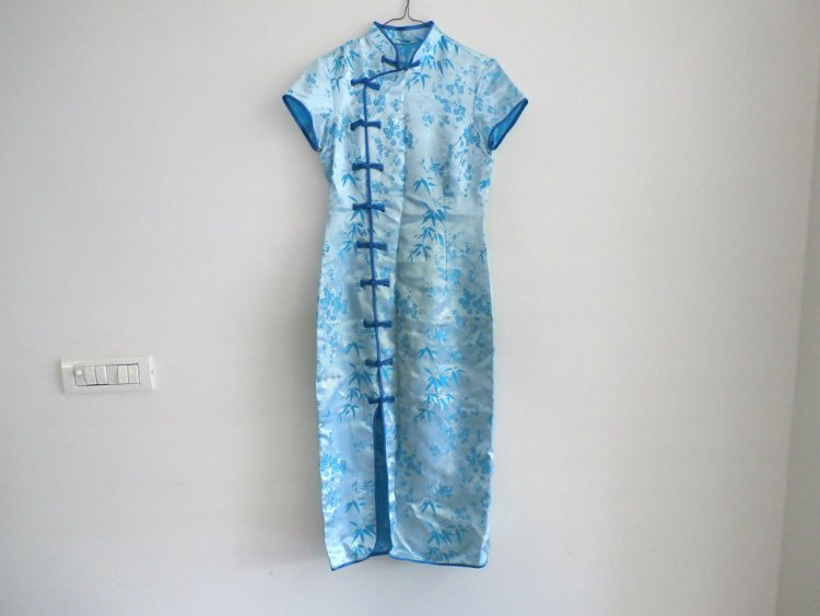 #Chinese Traditional Long Satin Qipao, Maxi dress, Chinese Clothing, Asian Cheongsam Dress http://etsy.me/2KyxHsL   #womenfashion #dress #blue #bluedress #Qipao #CheongsamDress #Chinese Clothing #AsianCheongsampic.twitter.com/5GFnOxb1dv