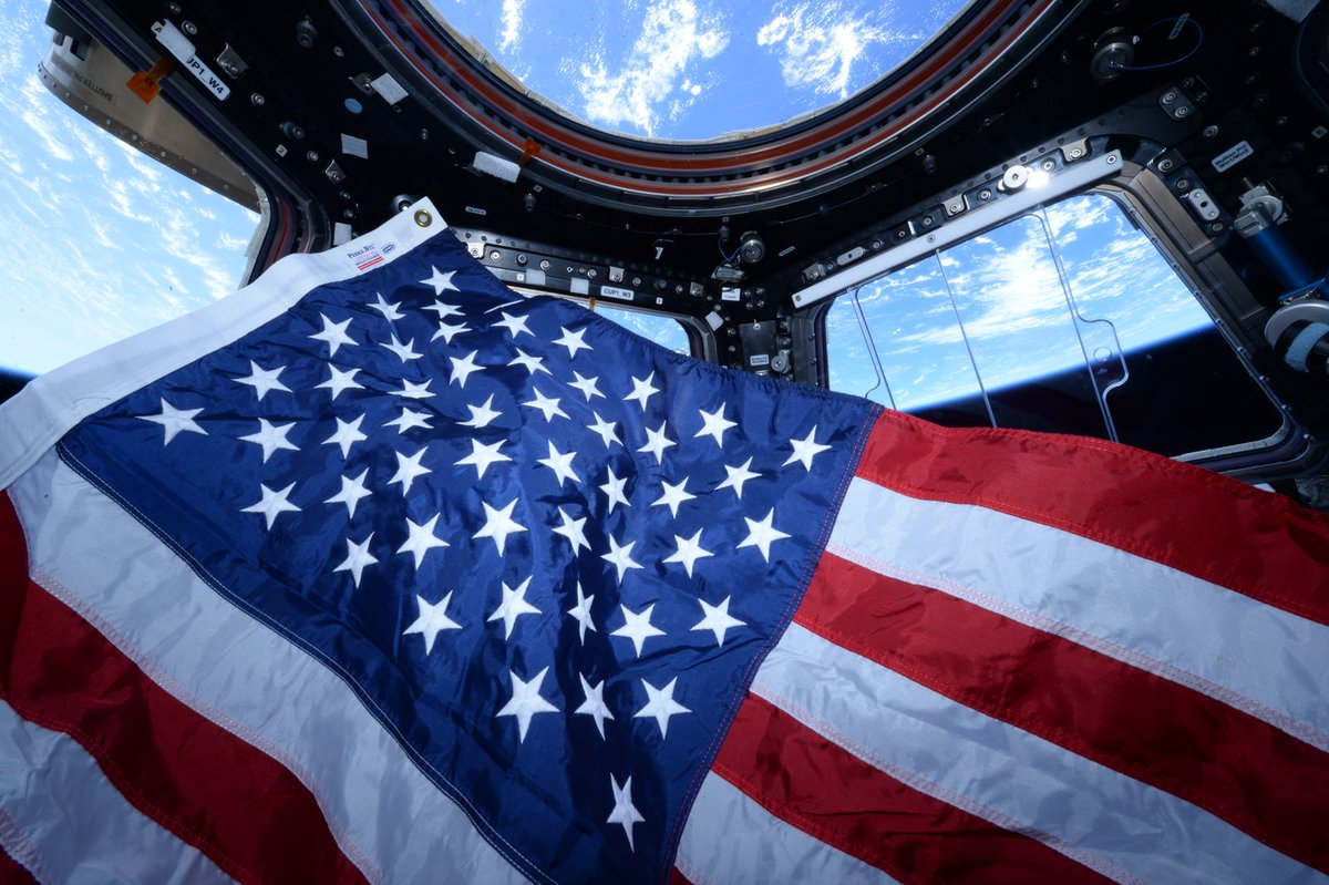 Happy 4th of July from space!