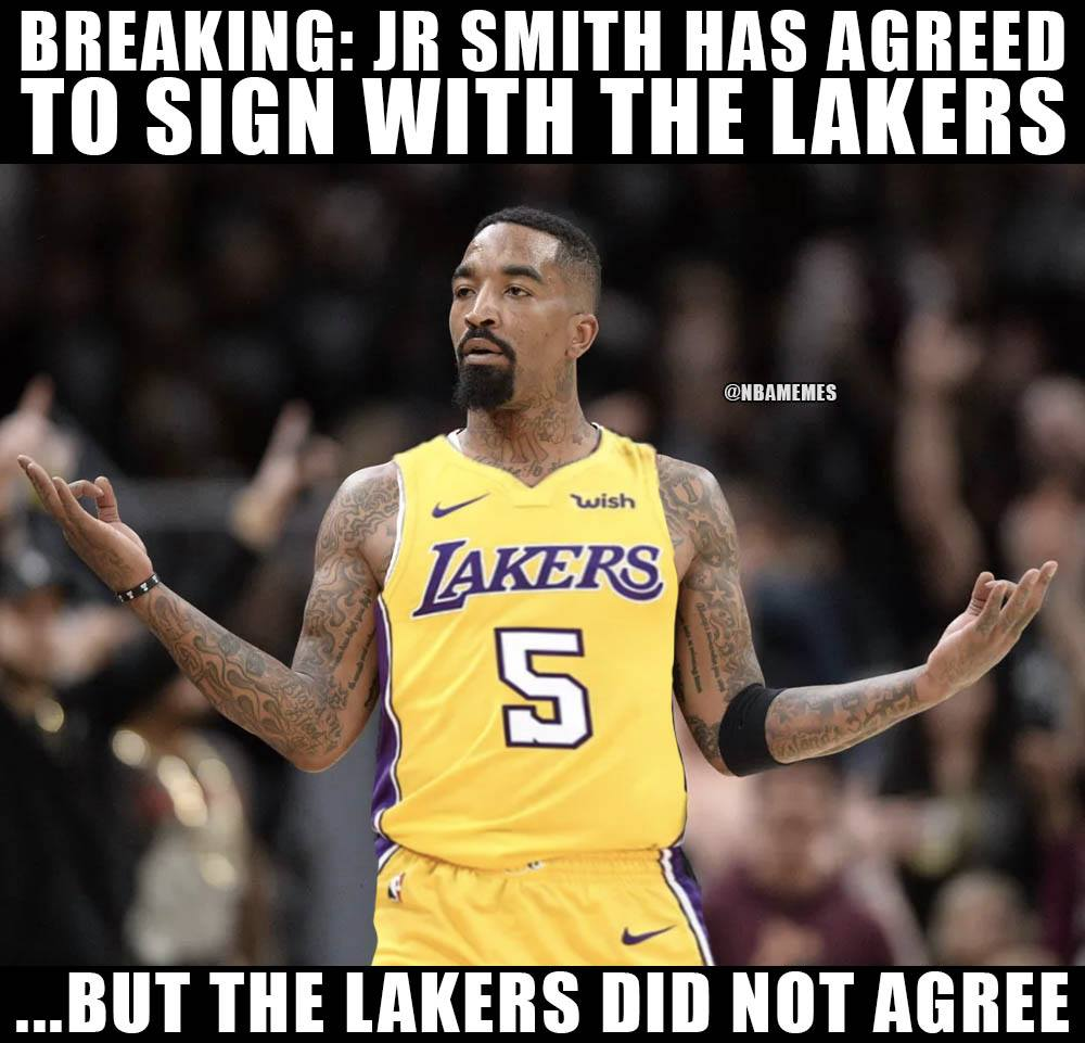 """NBA Memes on Twitter: """"J.R. Smith to the Lakers!… """""""