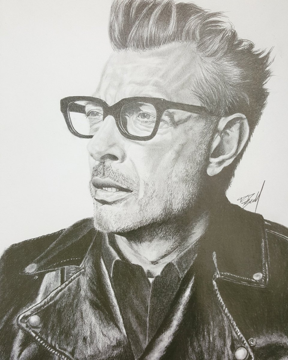 Rob beall on twitter sketch of jeffgoldblum happy independence