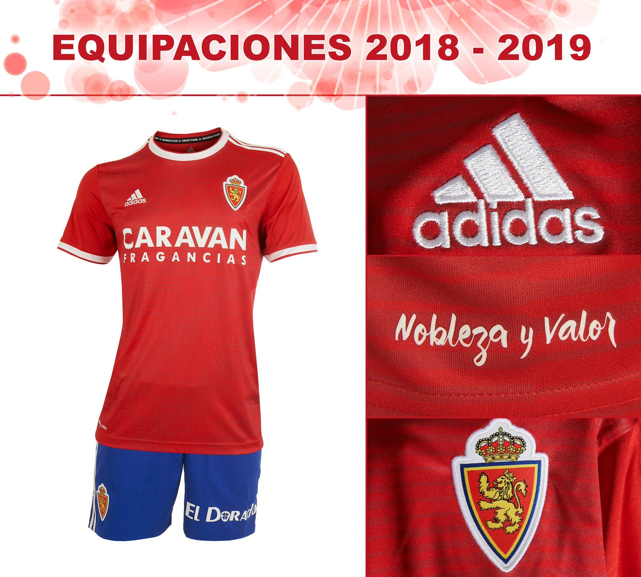 Así son las equipaciones del Real Zaragoza 2018 2019