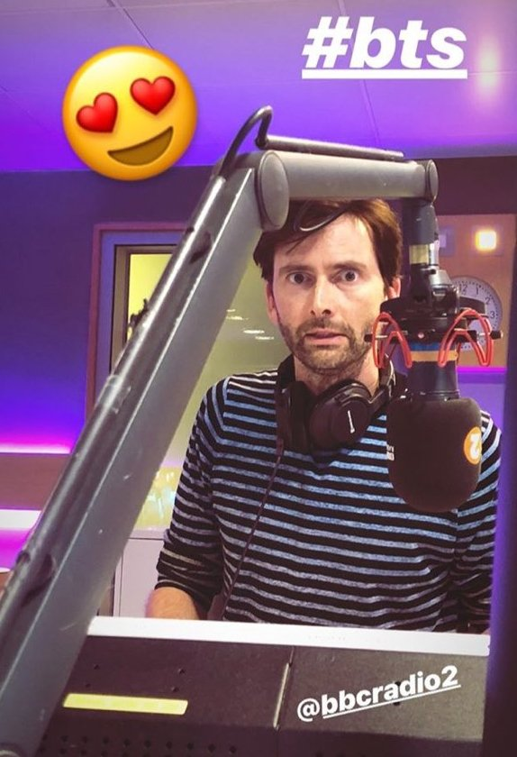 David Tennant hosting The Sara Cox Show on BBC Radio Two - Wednesday 4th July 2018