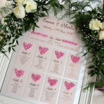 Image for the Tweet beginning: . Lovely table plan from Emma