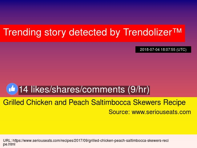 Grilled Chicken and Peach Saltimbocca Skewers Recipe https://t.co/ovFnILRWOj https://t.co/Ic39UjyjTv