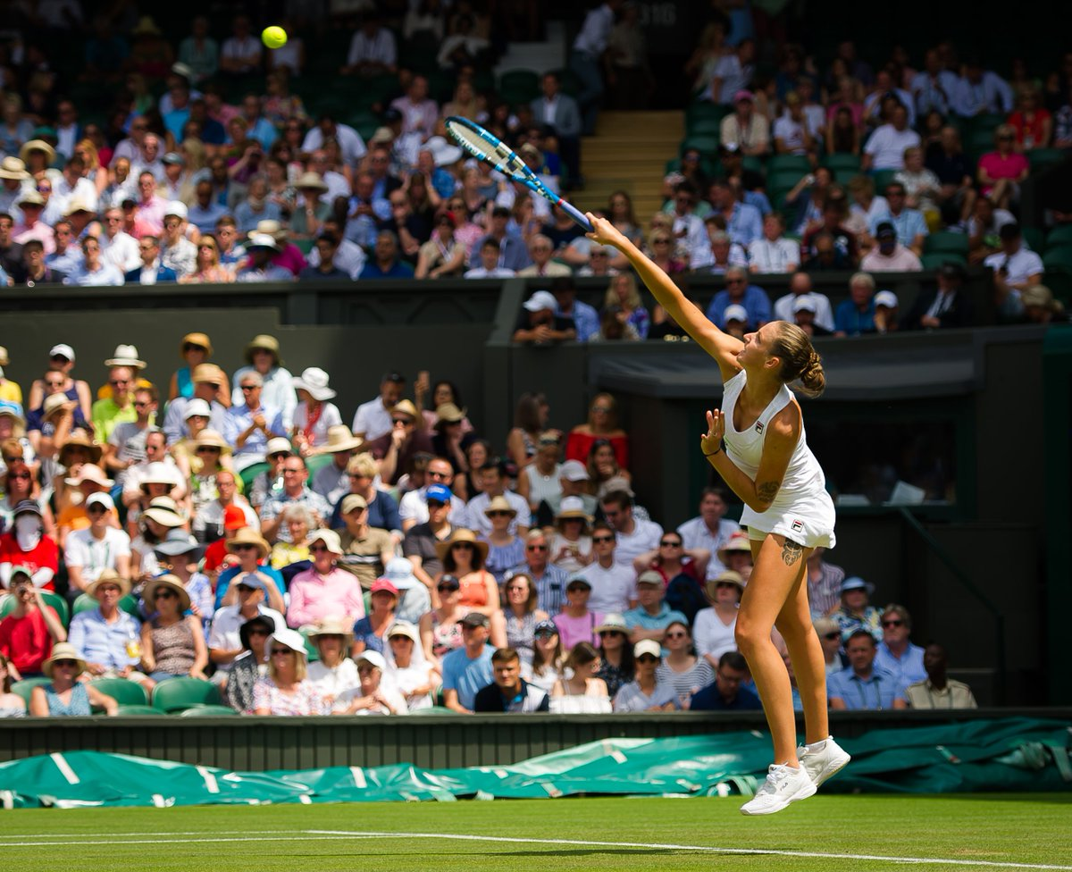 First win on this amazing court! @Wimbledon