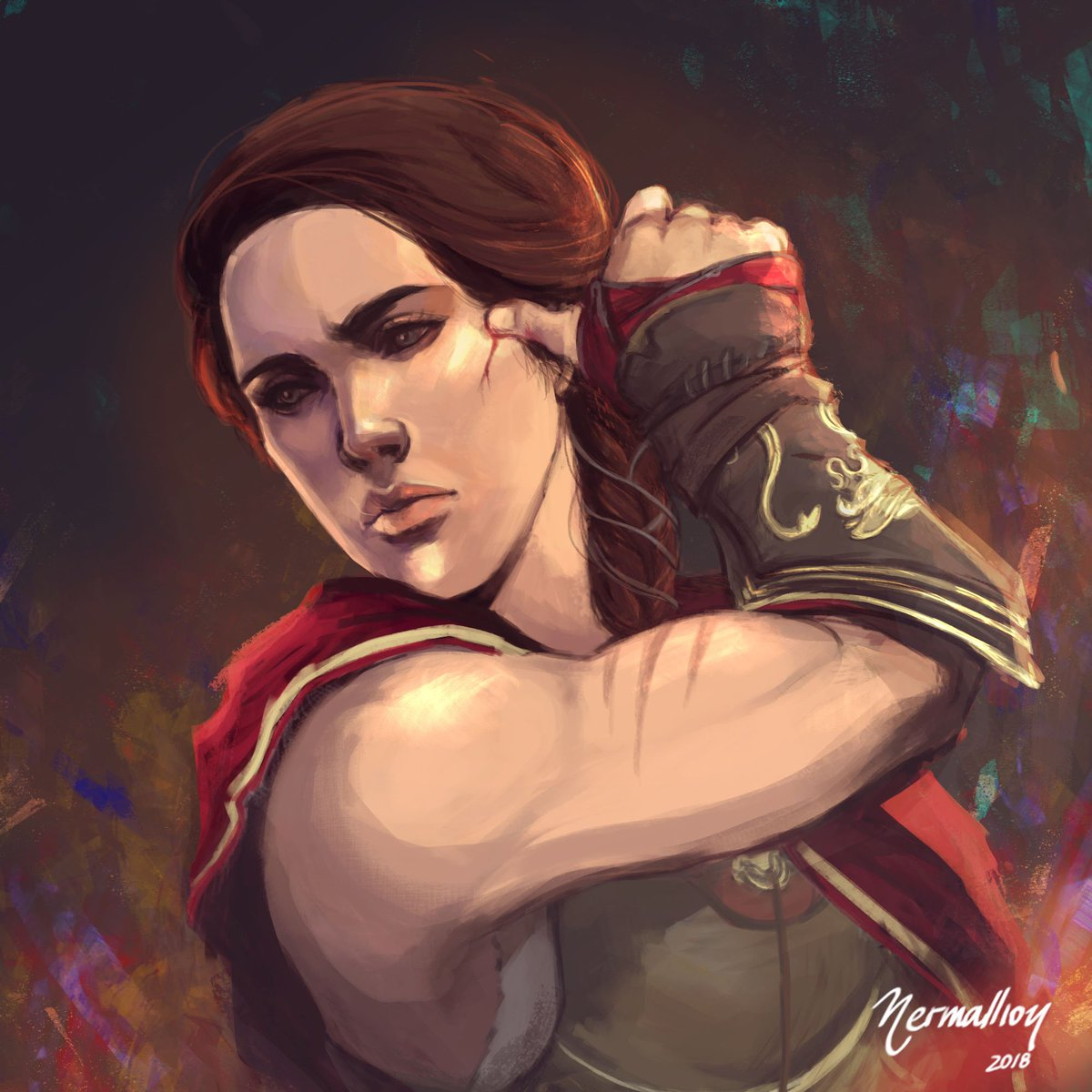 Assassin S Creed On Twitter This Kassandra Fan Art Is A Great Example For Acfinest We Can T Wait To See More