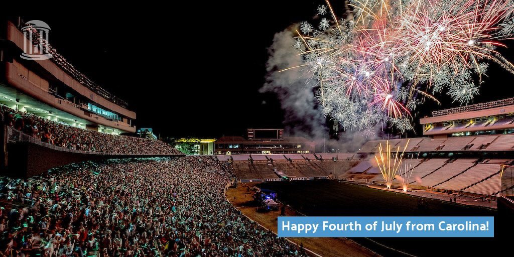 Wishing you a wonderful July 4th with family and friends! Fireworks at Kenan Stadium begin at 9:30 pm. https://t.co/RwOpC1e1sl