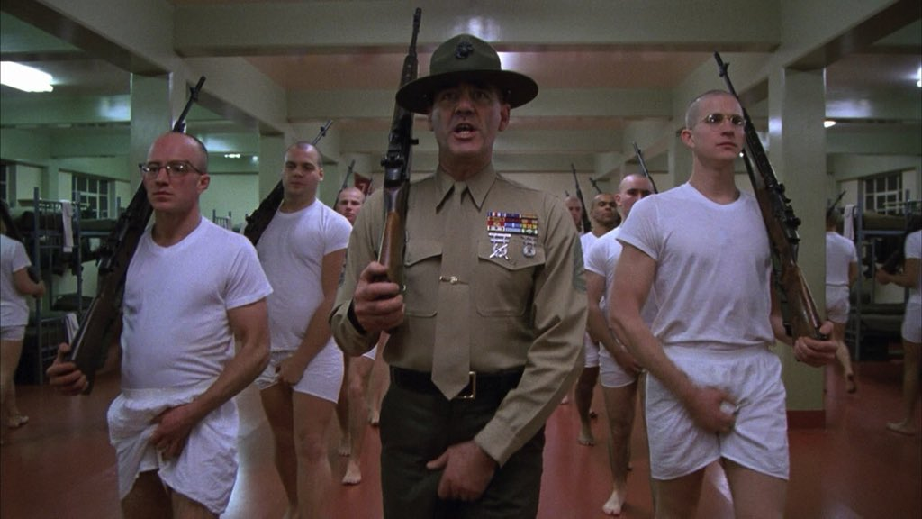 full metal jacket semiotic analysis Full metal jacket: the greatest vietnam movie made even though half of the movie takes place in the united states the reason this movie is such a great film is because kubrick takes the time, one third of the movie, to show the training and indoctrination marines are subjected to during basic training.