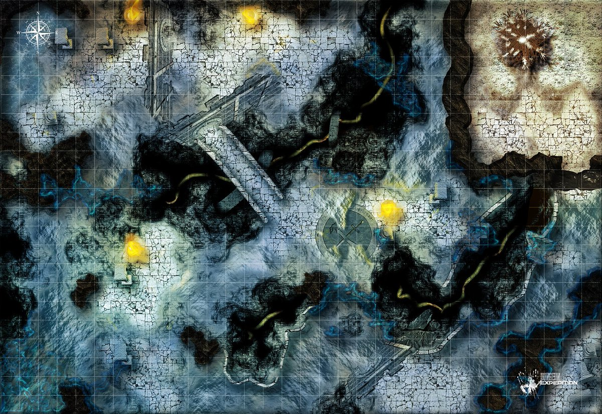 Dnd Mine Dungeon Map