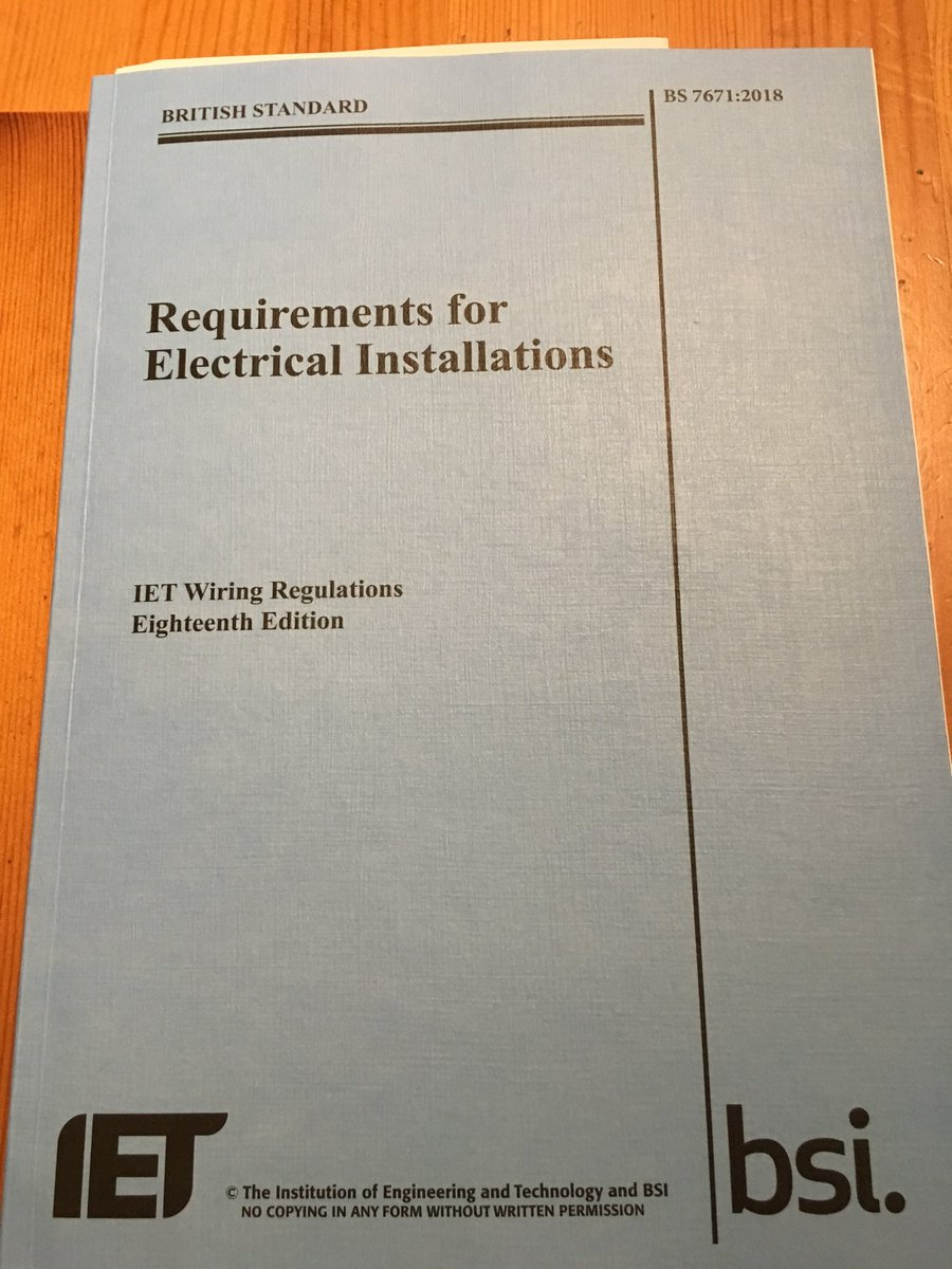 18thed Hashtag On Twitter Iet Wiring Regulations 17th Edition Book