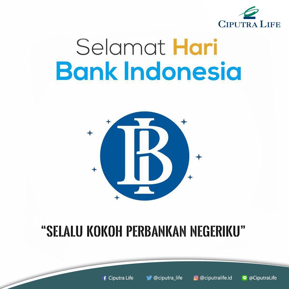 Selamat Hari Bank Indonesia! Selalu kokoh perbankan Negeriku. Cc : @bank_indonesia #Asuransi #CiputraLife #HariBank #HariBankIndonesia #BuildBetterFuture