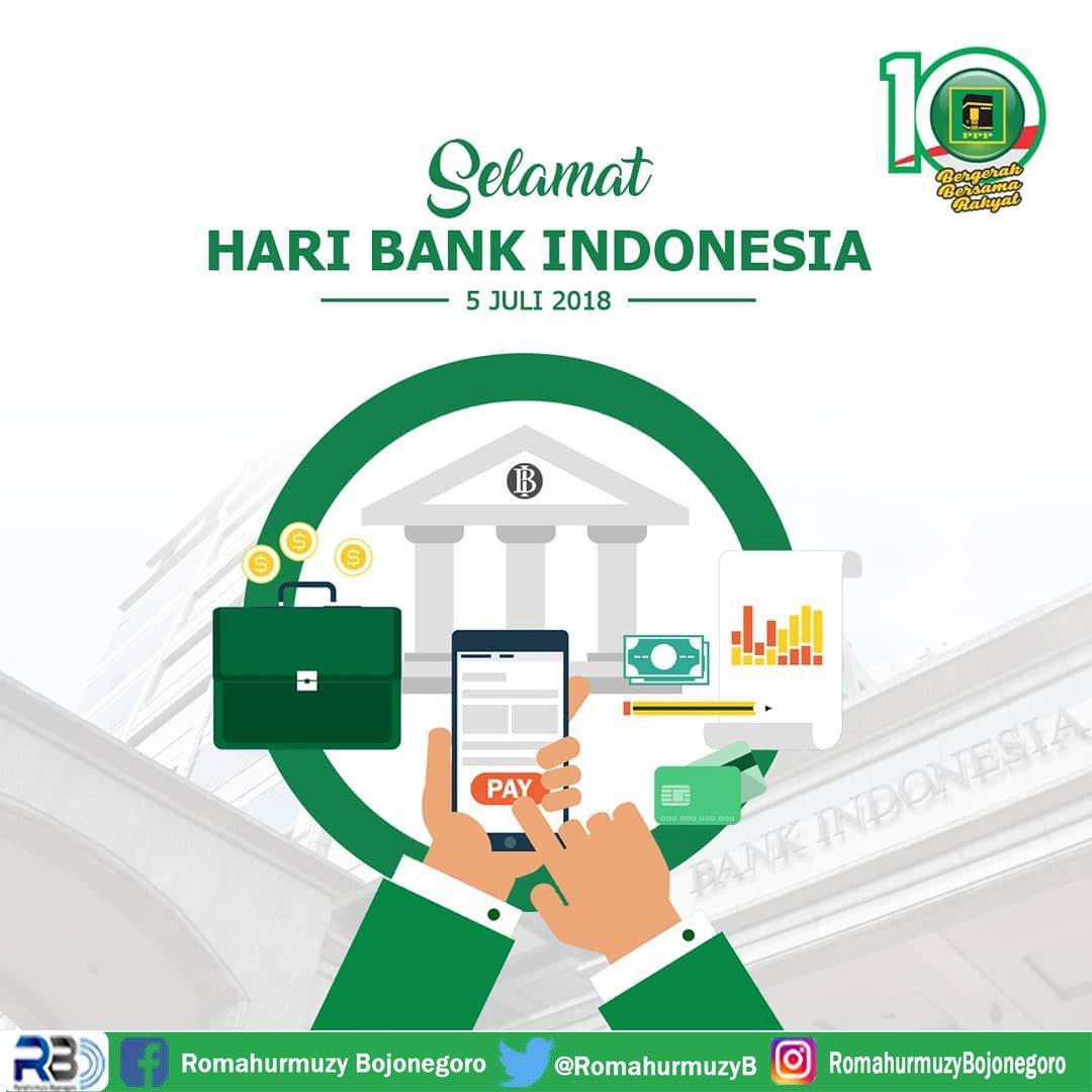 Selamat Hari Bank Indonesia  #Romahurmuziy #haribankindonesia #indonesia #SahabatRomahurmuziy  @DPP_PPP @MRomahurmuziy @BojonegoroDpc @choirulanamppp @toniafto