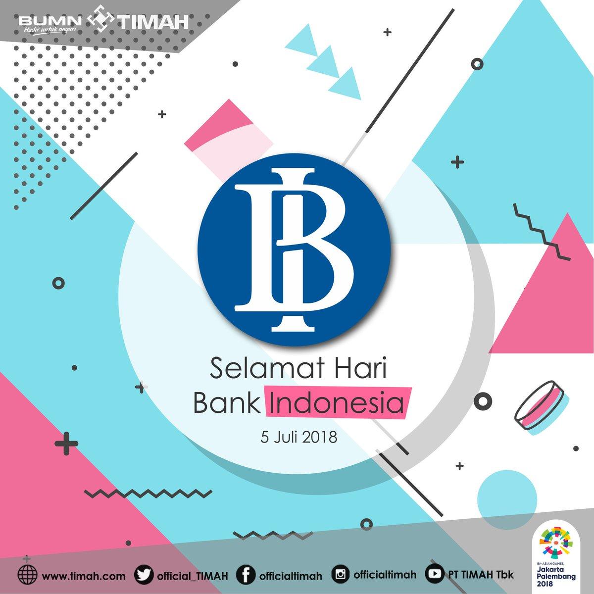 Selamat Hari Bank Indonesia. Semoga perbankan Nasional semakin maju dan kokoh. #HariBankIndonesia