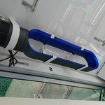 こっちの方が安上がり?松山城ロープウェイの空調がダイソンの羽なし扇風機!