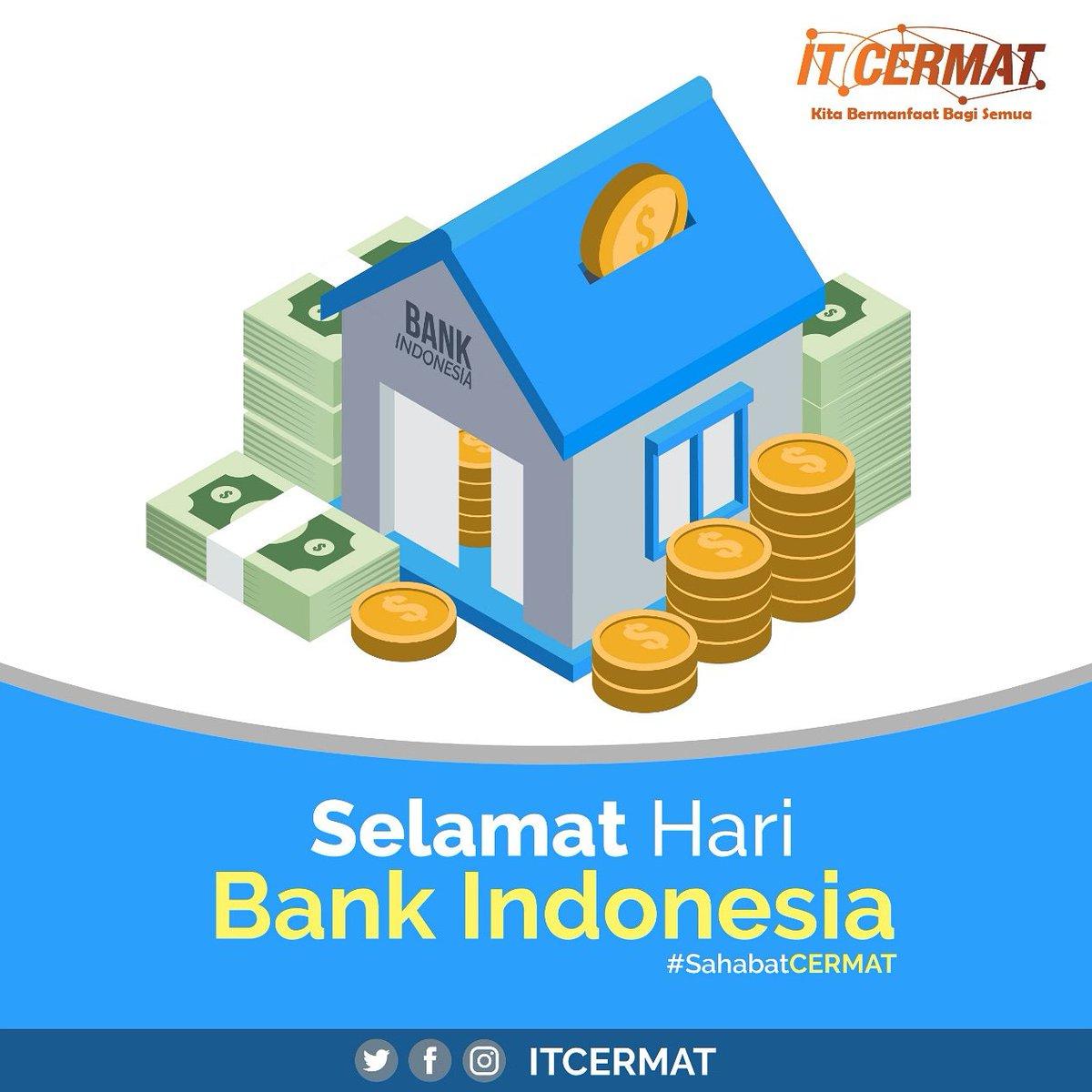 Selamat Hari Bank Indonesia🏦   #itcermat #haribankindonesia #pelatihangratis #RZ #RahmawatiDzaelani