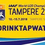 Tamperelainen hanavesi sammuttaa urheilijoiden janon nuorten yleisurheilun MM-kisoissa ensi viikolla #Tampere #hanavesi #IAAFTampere2018 https://t.co/w0lpG1pmOt