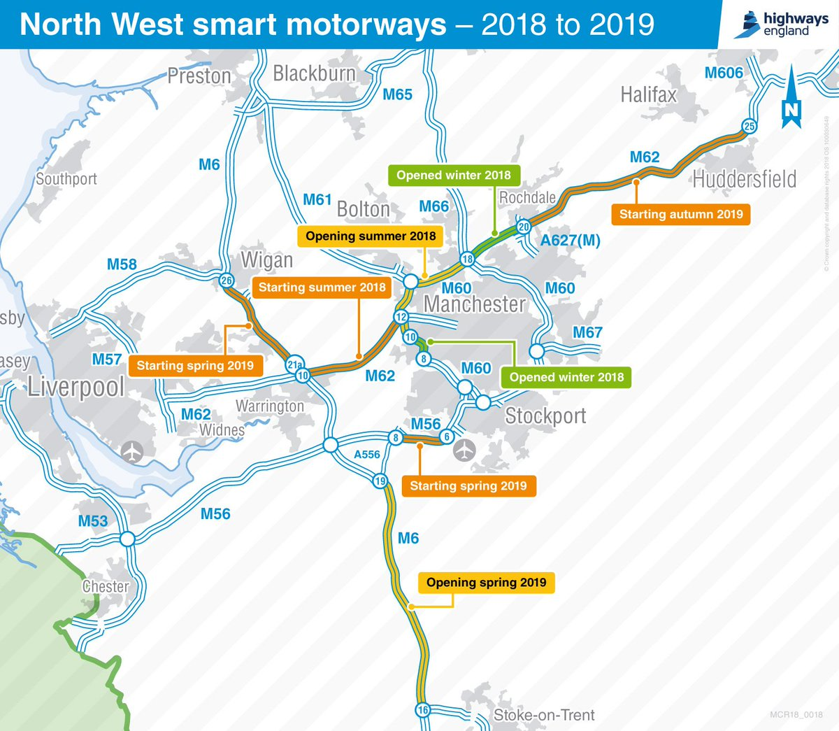 Motorway Map Of England.Highways England On Twitter We Re Adding 100 Miles Of Extra Lanes