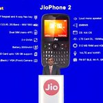 """#JioPhone2 announced: - ₹2,999 (exchange ur old feature phone and get it for ₹501 only) - 2.4"""" QVGA Display - kaiOS - dualSIM - 2000mAh Battery - 2MP Rear Cam 