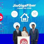 #JioGigaFiber (fiber to the home) w/ speeds up to 1Gbps. Registrations open 15 Aug 2018.  GigaFiber will allow: - UHD entertainment television - Multi-party video conferencing - Smart home solutions - VR Gaming JioGigaFiber Router & JioGigaTV Set-top box also announced
