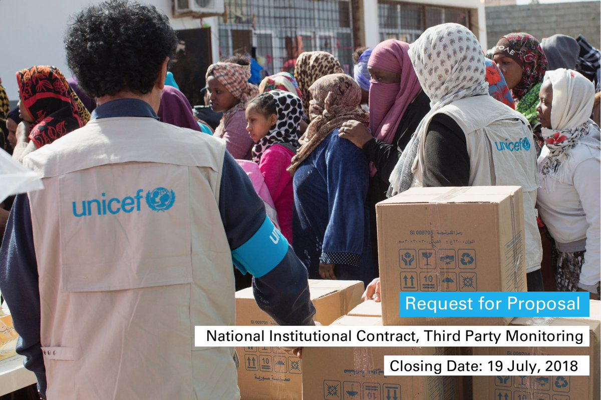 unicef libya on twitter requestforproposal we re looking for a