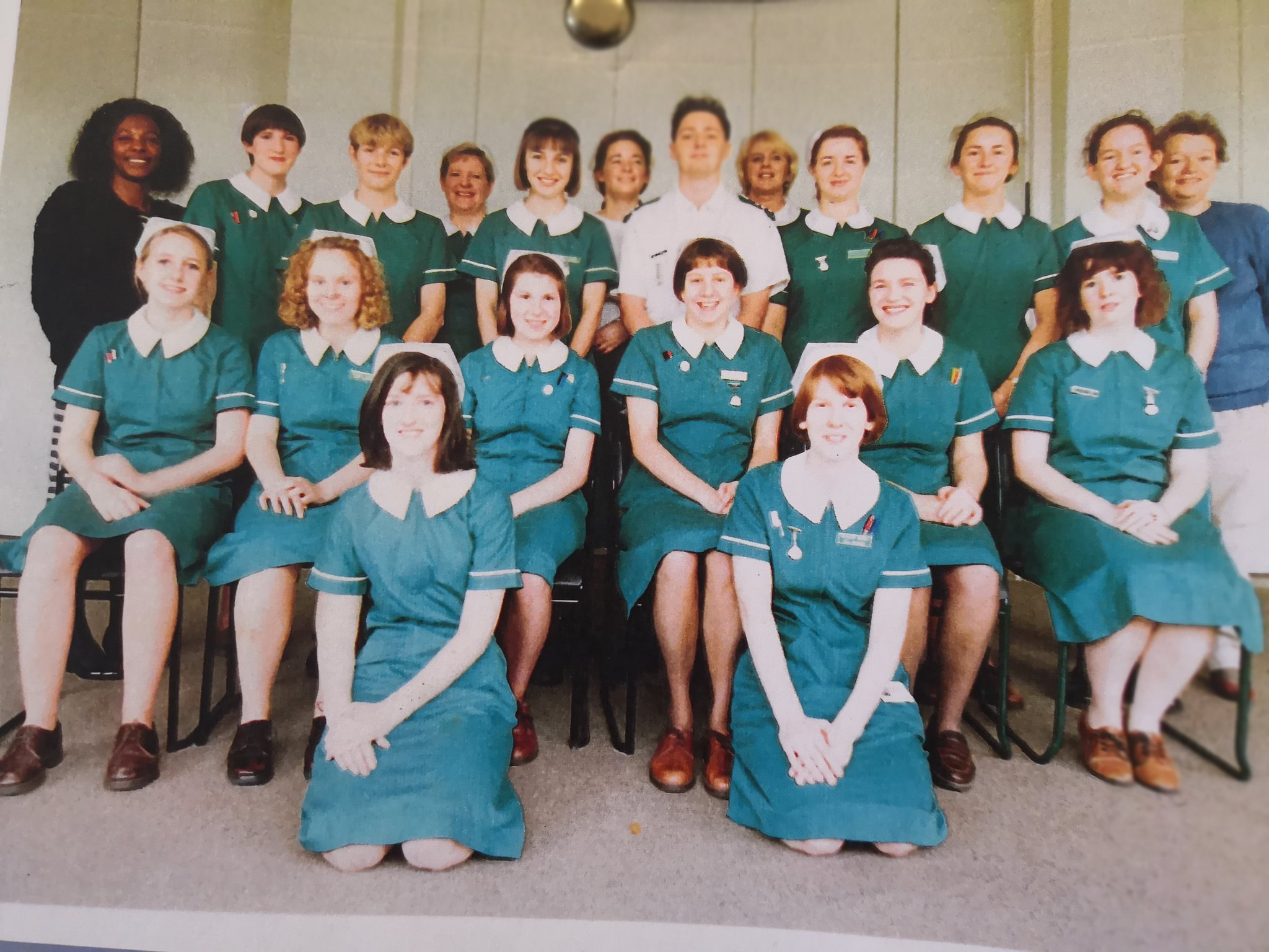 We were living the dream in 1990 with these uniforms! Happy 70th birthday, NHS, you wonderful thing!