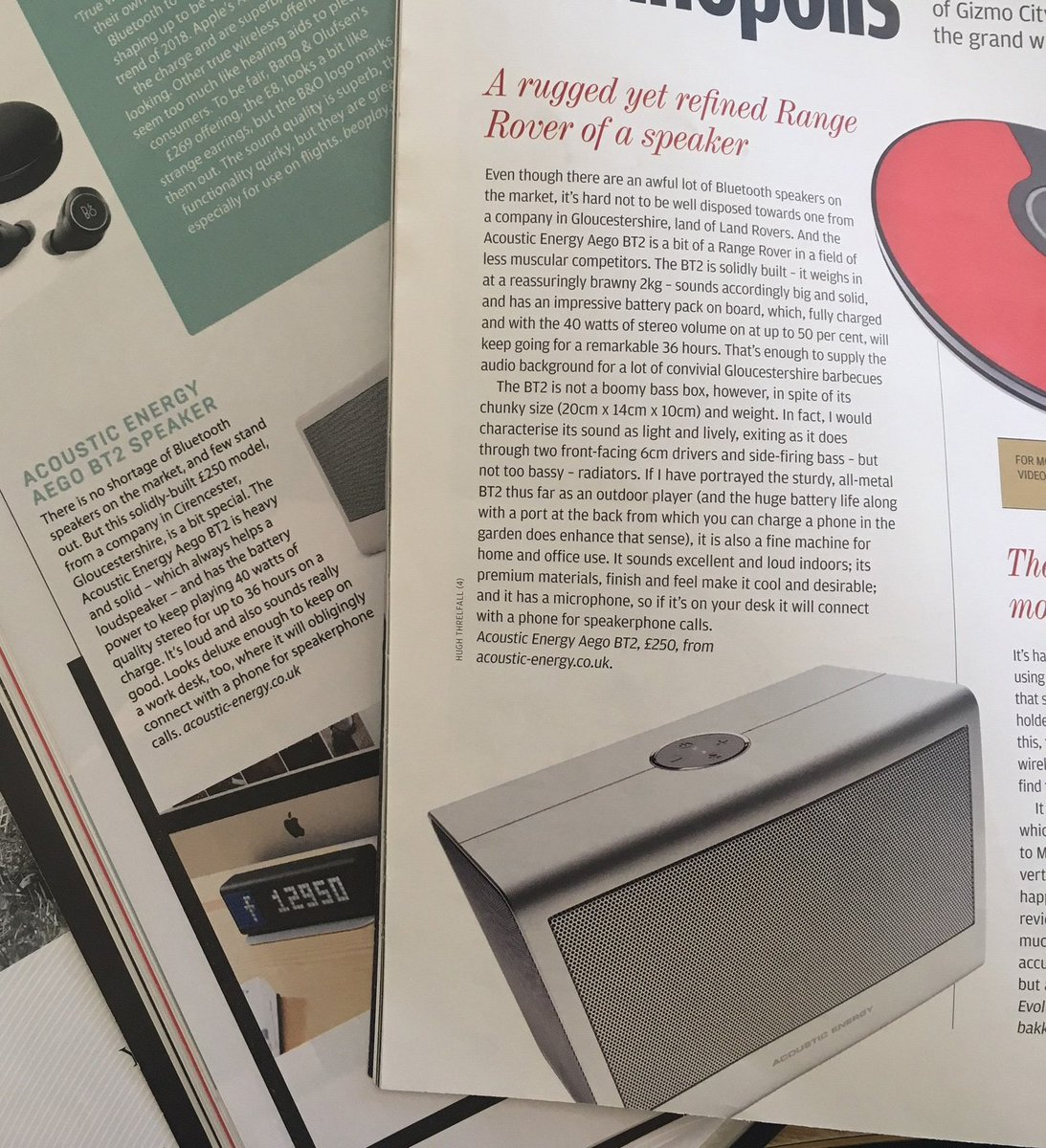 Acoustic Energy On Twitter Excellent Coverage For The Aego Bt2 In 3 British Airways Business Life Magazine And Financial Times Supplement Where It Was