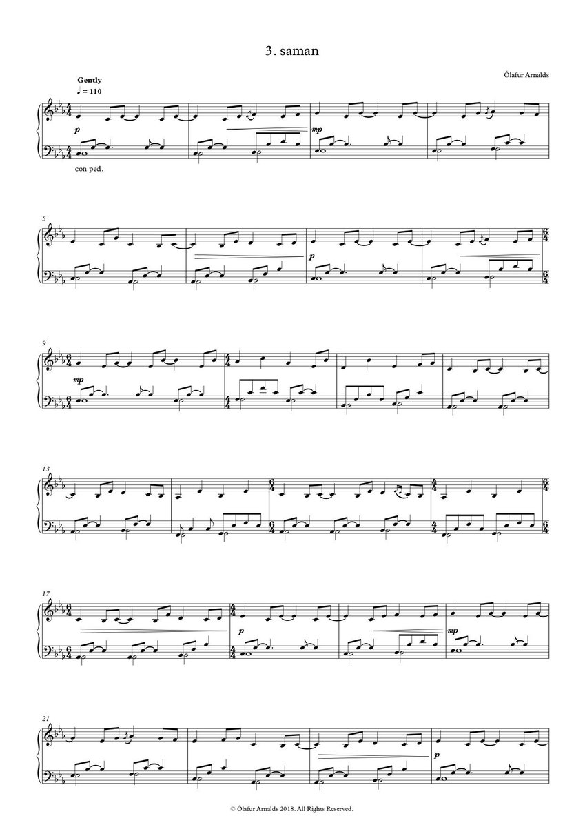 sheet music for yesterday on piano