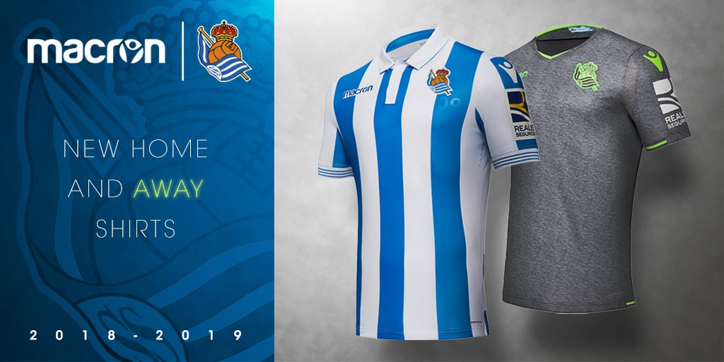 Macron On Twitter Macron And Real Sociedad Have Unveiled The 2018 19 Home And Away Kits Read More Https T Co Wq7f0ycv5r Shop Now Https T Co Kc7bmydcw5 Workhardplayharder Realsociedad Https T Co Vnuaoo9xrv